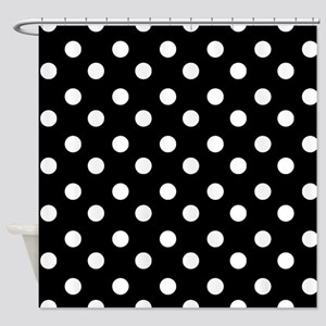 Black And White Polka Dot Shower Curtains Cafepress