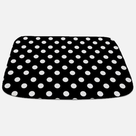 black and white polka dots pattern Bathmat