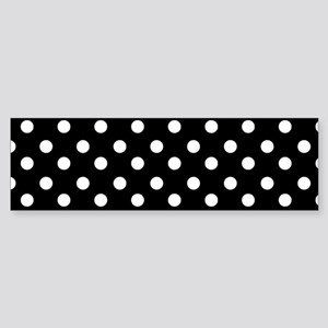 black and white polka dots patter Sticker (Bumper)