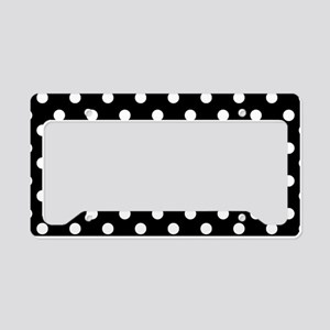 black and white polka dots pa License Plate Holder
