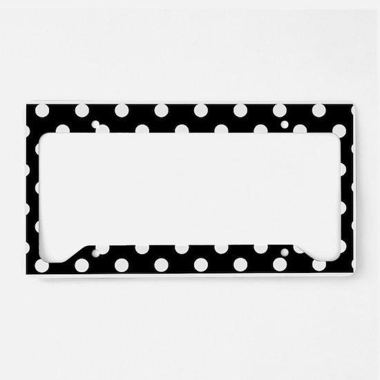 black and white polka dots pa License Plate Holder