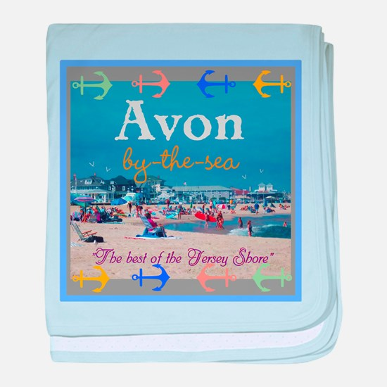 Avon by the Sea baby blanket
