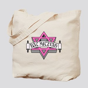 Mitzvah with Pink scroll & Star of David Tote