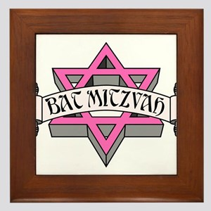 Mitzvah with Pink scroll & Star of David Frame