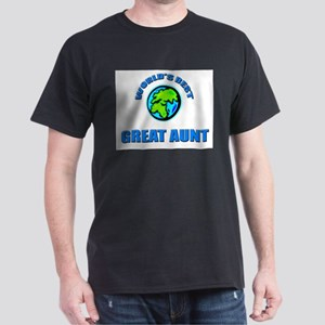 World's Best GREAT AUNT Dark T-Shirt