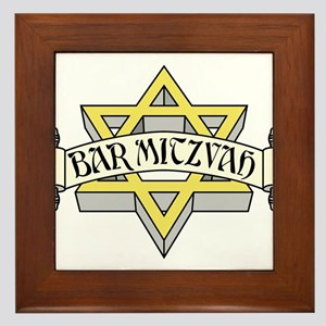 Bar Mitzvah with scroll & golden Star of David
