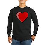 Gel Heart Icon w/ black outline Long Sleeve Dark T