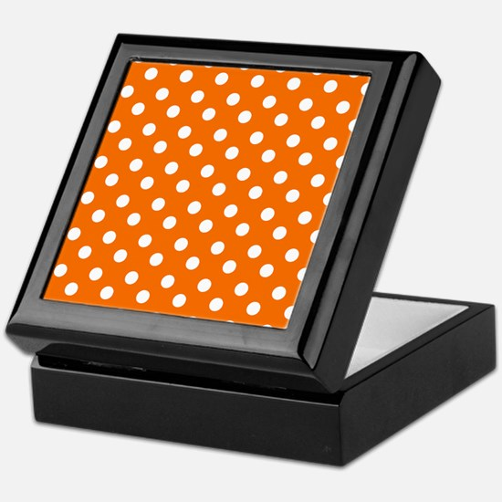 polka dots pattern Keepsake Box