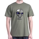 Grey Alien Head Dark T-Shirt