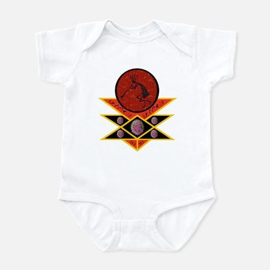 Kokopelli Embracing Peace Infant Bodysuit
