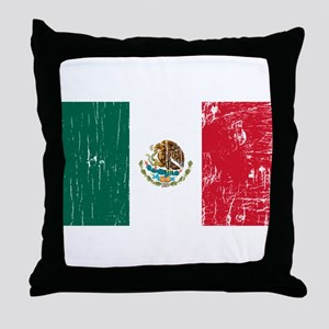 Vintage Mexico Throw Pillow