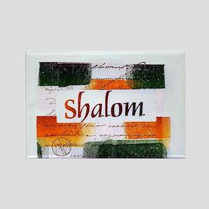 Shalom Rectangle Magnet