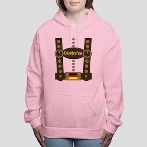 Oktoberfest Lederhosen F Women's Hooded Sweatshirt