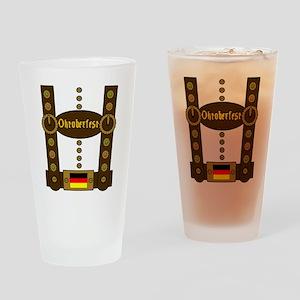 Oktoberfest Lederhosen Funny Drinking Glass
