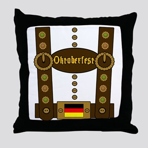 Oktoberfest Lederhosen Funny Throw Pillow