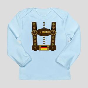 Oktoberfest Lederhosen Long Sleeve Infant T-Shirt