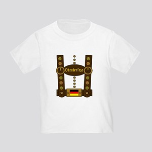 Oktoberfest Lederhosen Funny Toddler T-Shirt