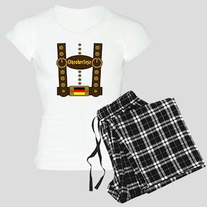 Oktoberfest Lederhosen Funn Women's Light Pajamas
