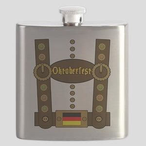 Oktoberfest Lederhosen Funny Flask