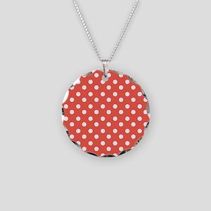 polka dots pattern Necklace Circle Charm