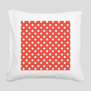 polka dots pattern Square Canvas Pillow