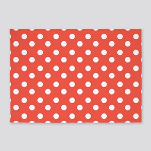 polka dots pattern 5'x7'Area Rug