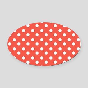 polka dots pattern Oval Car Magnet