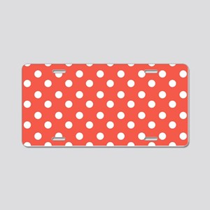 polka dots pattern Aluminum License Plate