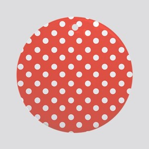 polka dots pattern Ornament (Round)