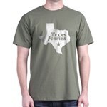 Texas Forever (White - Cutout Ltrs) Dark T-Shirt