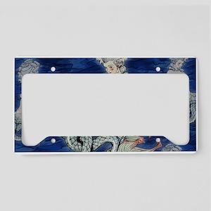Little Rococo mermaid License Plate Holder
