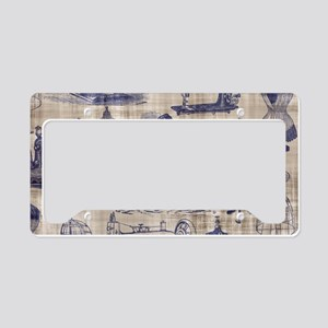Vintage Sewing Toile License Plate Holder