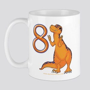Kids Dino 8th Birthday Gifts Mug