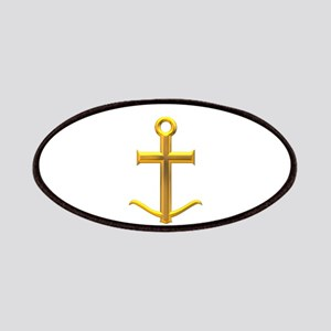 Golden Anchor Cross Patches