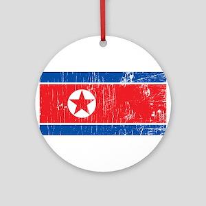 Vintage North Korea Ornament (Round)