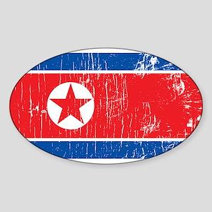 Vintage North Korea Oval Sticker
