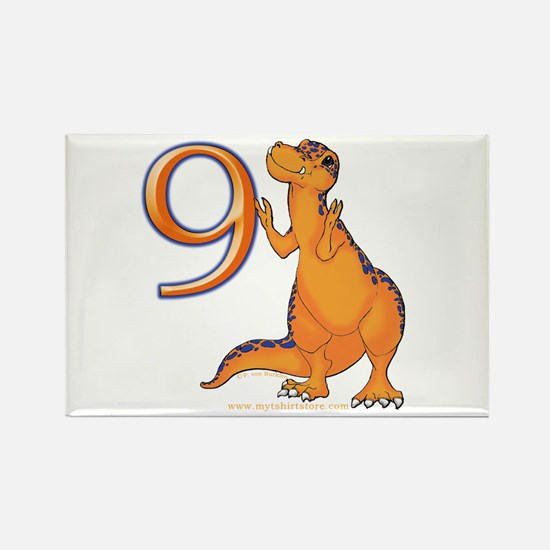 Kids Dino 9th Birthday Gifts Rectangle Magnet