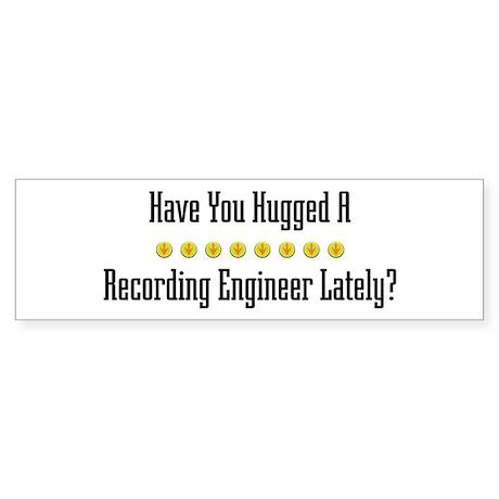Hugged Recording Engineer Bumper Sticker