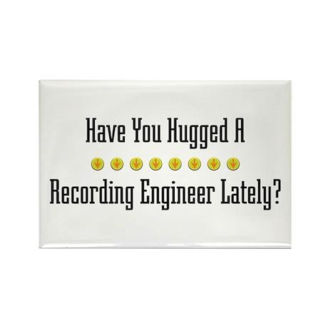 Hugged Recording Engineer Rectangle Magnet