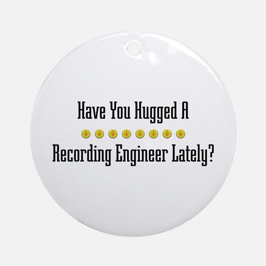 Hugged Recording Engineer Ornament (Round)