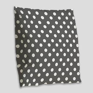 polka dots pattern Burlap Throw Pillow