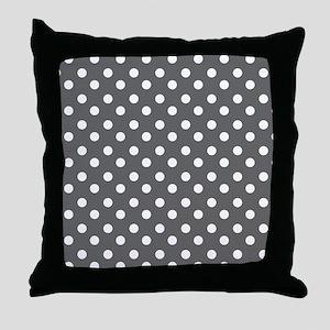 polka dots pattern Throw Pillow