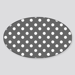 polka dots pattern Sticker (Oval)
