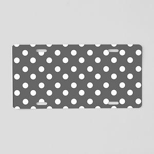 polka dots pattern Aluminum License Plate