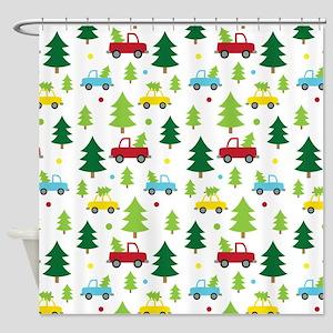Christmas Tree Holiday Fun Shower Curtain