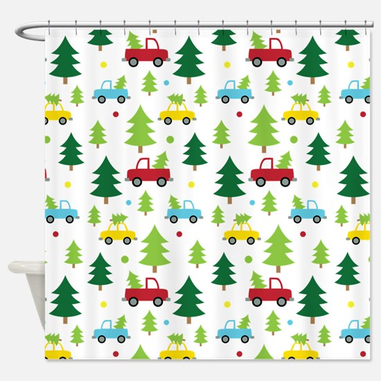 Christmas Tree Holiday Fun Shower Curtain