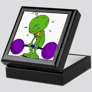Alien Weight Lifter Keepsake Box