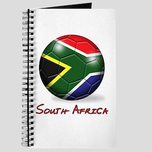 South Africa Flag Soccer Ball Journal