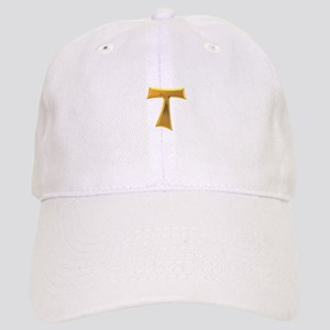 Golden Franciscan Tau Cross Cap