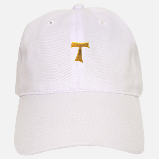 Golden Franciscan Tau Cross Baseball Baseball Cap